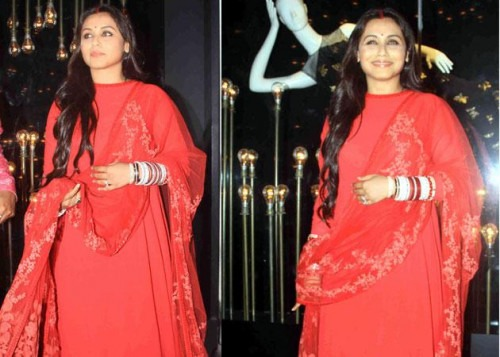 Rani Mukerji in Indian fashion outfit