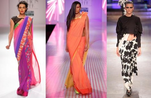 The Rise of the Sari in 2015 | Top Sari Catwalk Pick's from 2015