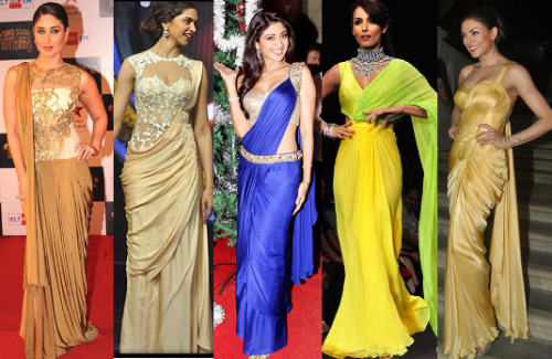 These Fabulous Saree Gowns Will Make Your Life So Much Easier-strand-of-silk-stylish thoughts