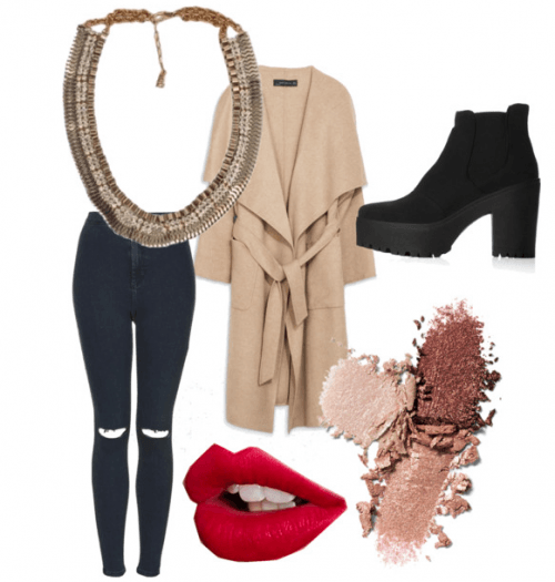 The perfect casual autumn outfit teamed with a Sannam Chopra statement necklace