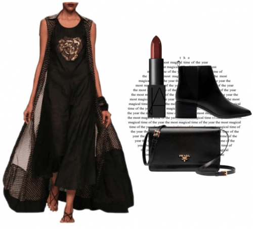 Black is the new Black | Polyvore Featuring Myoho Outfit