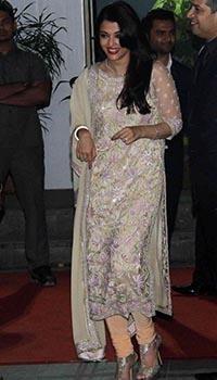 Shirin Moran and Uday Singh's Wedding Guests Outstanding Aishwarya Rai- Aishwarya Rai in Abu Jani Sandeep Khosla