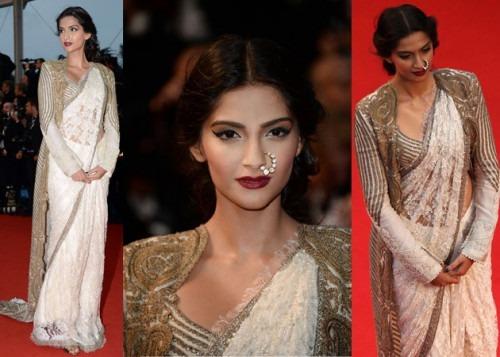 Sonam Kapoor Wore indian fashion designer Anamika Khanna's Creation at Cannes