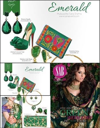 Karieshma Sarnaa - Karieshma Sarnaa Clutch featured in South Asian Bride Magazine Summer '13