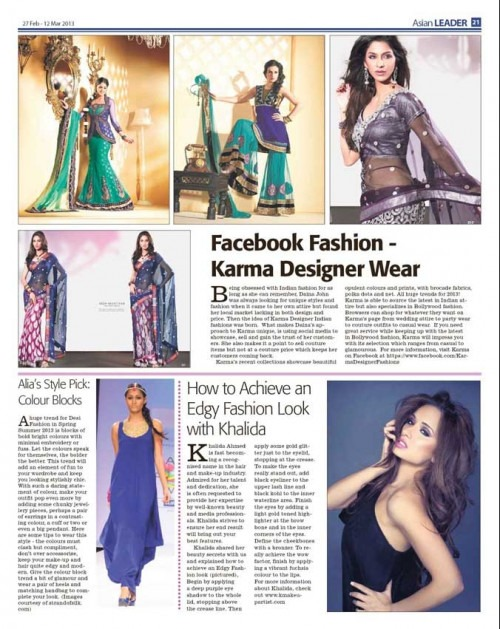 Payal Singhal - Payal Singhal's Colour Blocked Dress featured in Asian Leader