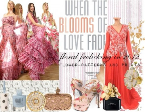 Strand of Silk - Indian Fashion Designer - AM:PM - floral trend of 2012