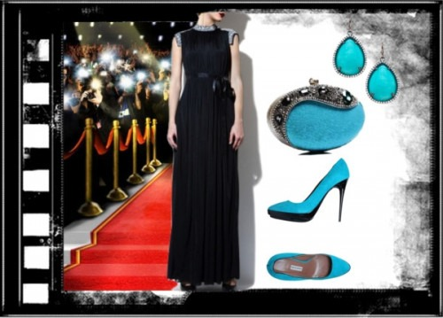 Strand of Silk - Indian Fashion Designer - AM:PM - Black Catwalk Dress