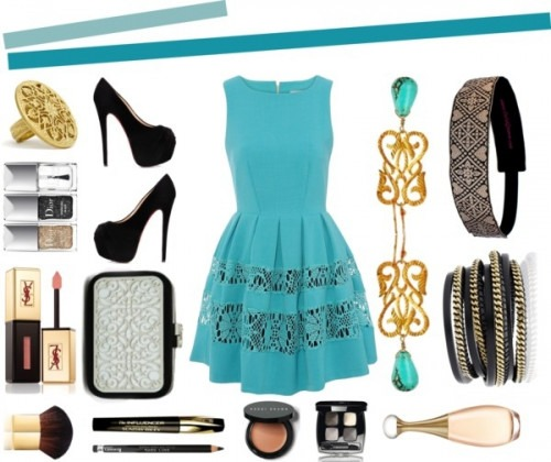 Blue dress - Indian Fashion Accessories - Indian Earrings by Eina Ahluwalia