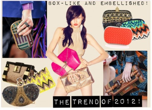 Beautiful clutch bags by Indian Designer Meera Mahadevia - Ring handle clutch bags