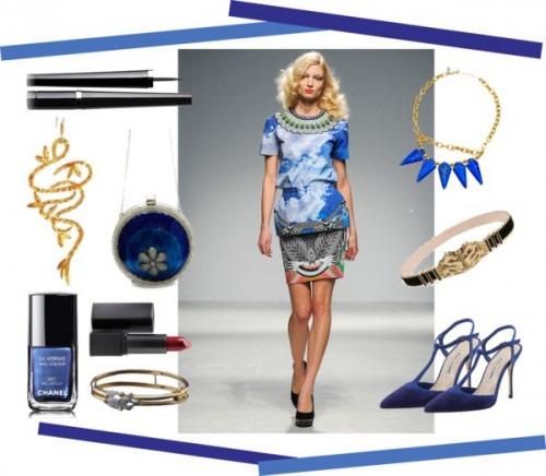 indian fashion designers blue items Meera Mahadevia Two Tone Pumps