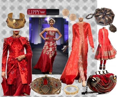 Red Bridal Dresses by Indian Fashion Designer Narendra Kumar