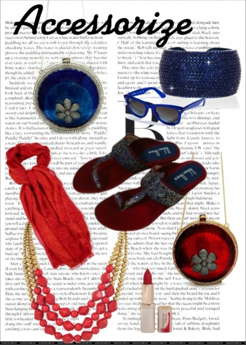 Beautiful clutch bags in Blue and Red by Indian Designer Pinky Saraf
