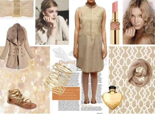 Strand of Silk - Indian Fashion Designer - Satya Suman - Golden dresses