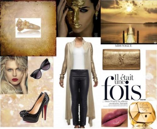 Strand of Silk - Indian Fashion Designer - Satya Suman - Golden Night