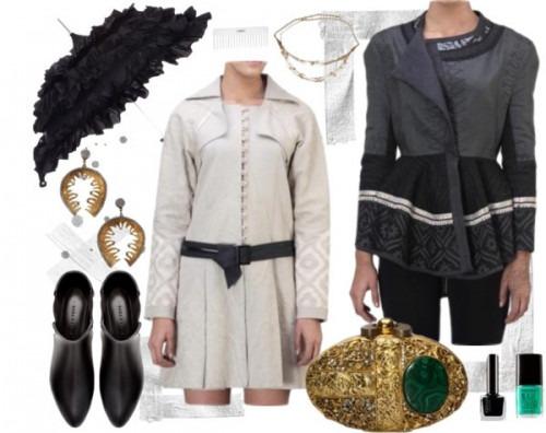 indian designers Satya Suman wrap coat - indian jackets