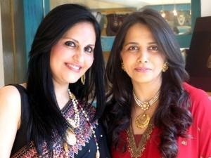 Bollywood Star Loveleen Tandon with Indian Designer Roopa Vohra