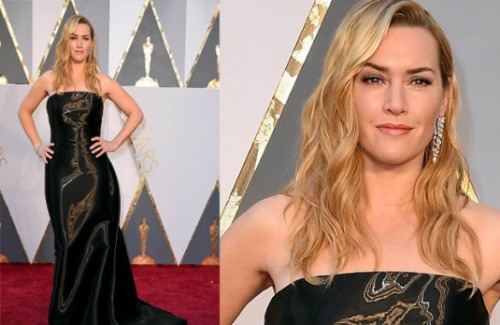 Kate Winslet at the Oscars   India Shining on the International Red Carpet