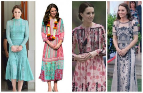 Kate Middleton Wears Anita Dongre, Jade Temperley, and Topshop | Stunning Looks From Kate Middleton's Tour of India