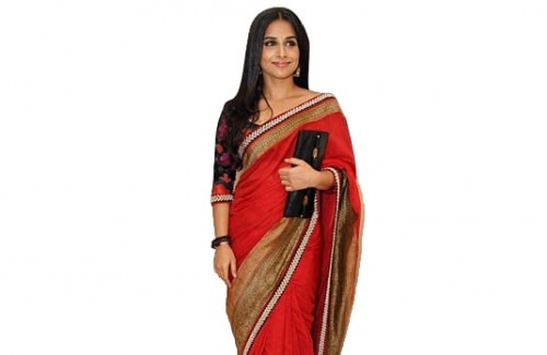 Style hacks from Vidya Balan| Vidya Balan in a red saree