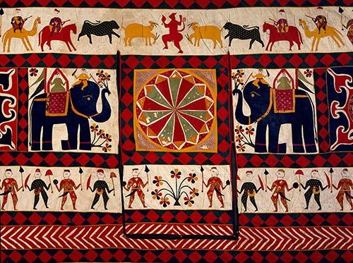 The Fabric of India Exhibition to be Showcased at The Victoria & Albert Museum | Cotton Appliqué Gujarat 20th Century Wall Hanging at the Victoria and Albert Museum