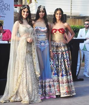 The Grand Finale of Gionee India Beach Week 2015 Was Made by Designer Duo Falguni and Shane Peacock   Models