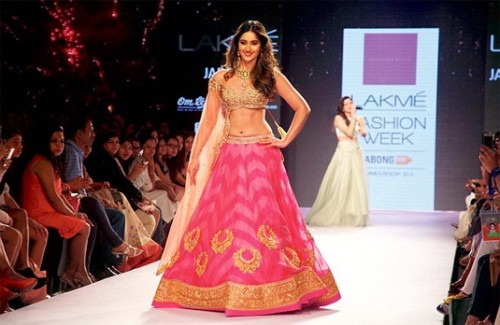 Bridal Sarees and Their Importance for Indian Economy- Pale yellow Indian Anarkali by Jyotsna Tiwari at the India Bridal Fashion Week
