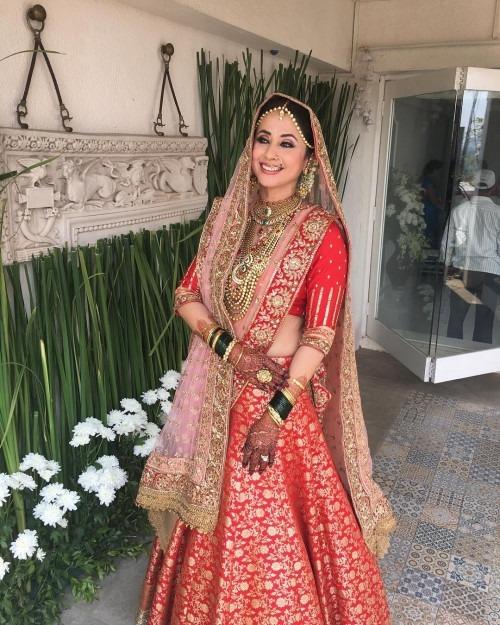Wedding Lehenga by Manish Malhotra | Urmila Matondkar's Surreal Wedding Outfit