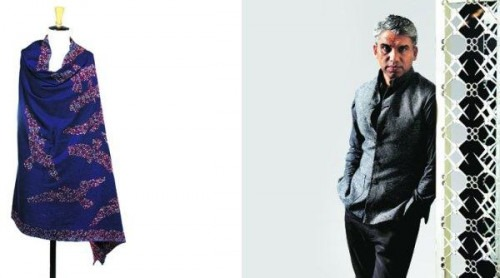 The Perfect Festive Season Scarves Featured in Vogue | Designer Rajesh Pratap Singh and a Scarf from his Collection