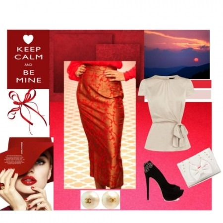 Contemporary Indian Clothes - Indian Fashion - Today is a red day