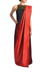 Indian Fashion Designers - Janaki - Contemporary Indian Designer - Concept Draped Saree - JKI-SS16-S1