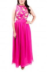 Indian Fashion Designers - Kriti J - Contemporary Indian Designer - Fuchsia Cutout Gown - KJ-SS16-GN05