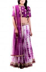 Indian Fashion Designers - Kriti J - Contemporary Indian Designer - White Printed Lehenga Set - KJ-SS16-LA10