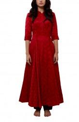 Indian Fashion Designers - Myoho - Contemporary Indian Designer - Godet Long Kurta - MYO-SS16-MYO-239