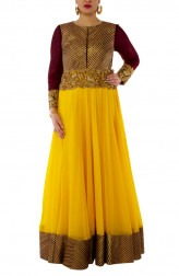 Indian Fashion Designers - Neehara - Contemporary Indian Designer - Elegant Floor Length Anarkali - NH-SS16-NH-BT1