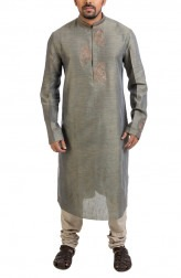 Indian Fashion Designers - Poonam Kasera - Contemporary Indian Designer - Zari Embroidered Kurta - PKR-SS16-DG-373