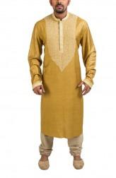 Indian Fashion Designers - Poonam Kasera - Contemporary Indian Designer - Green Aari Embroidered Kurta - PKR-SS16-DG517GRN