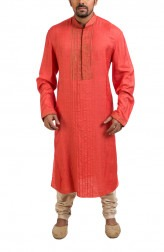 Indian Fashion Designers - Poonam Kasera - Contemporary Indian Designer - Hand Brushing Detailed Kurta - PKR-SS16-DG573