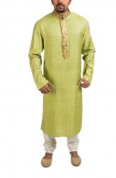 Indian Fashion Designers - Poonam Kasera - Contemporary Indian Designer - Gota Detailed Green Kurta - PKR-SS16-DG594