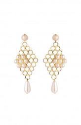 Indian Fashion Designers - Rejuvenate Jewels - Contemporary Indian Designer - Set Pearls Jaali - RJJ-SS16-RJE527