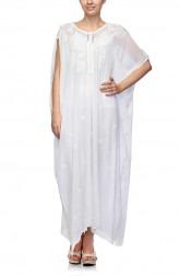 Indian Fashion Designers - Satya Suman - Contemporary Indian Designer - Boho Flowy Ribbon Kaftan - SS-NO-SS16-STL15