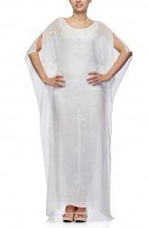 Indian Fashion Designers - Satya Suman - Contemporary Indian Designer - Boho Ribbon Beaded Kaftan - SS-NO-SS16-STL27
