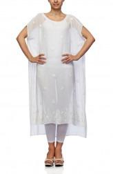 Indian Fashion Designers - Satya Suman - Contemporary Indian Designer - Flowy Ribbon Kaftan - SS-NO-SS16-STL6