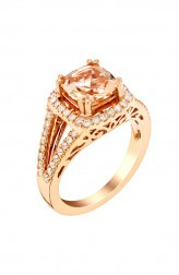 Indian Fashion Designers - Strand of Silk - Contemporary Indian Designer - Rose Gold Cocktail Ring - SOS-AW15-CJ-R11659P-MO