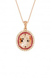 Indian Fashion Designers - Strand of Silk - Contemporary Indian Designer - White Diamond Studded Pendant Necklace - SOS-AW15-CJ-RP33452P-MO