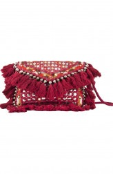 Indian Fashion Designers - The Purple Sack - Contemporary Indian Designer - Bohemian Rust Sling Bag - TPS-SS16-J26