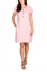 Indian Fashion Designers - True Browns - Contemporary Indian Designer - Rose Quartz Linen Cotton Dress - TBS-SS16-TB1095