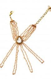 Indian Fashion Designers - Rejuvenate Jewels - Contemporary Indian Designer - Pearls Beaded Haathpaan - RJJ-SS16-RJMHP80