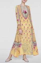 Indian Fashion Designers - Anita Dongre - Contemporary Indian Designer - Sunny Yellow Gulzar Dress - AD-SS19-SS19MBA162