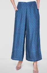 Indian Fashion Designers - Anita Dongre - Contemporary Indian Designer - Blue Marlais Trousers - AD-SS19-SS19RRM127P