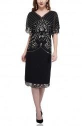 Indian Fashion Designers - Attic Salt - Contemporary Indian Designer - Metal Geometric Sequin Dress - AS-AW18-00380